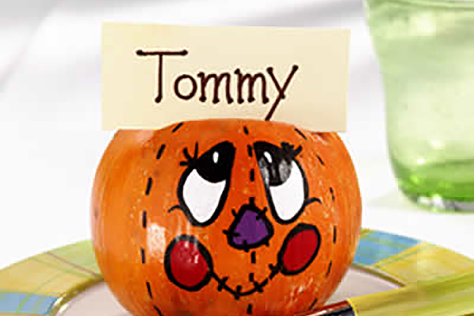 Smiling Pumpkin Place Cards