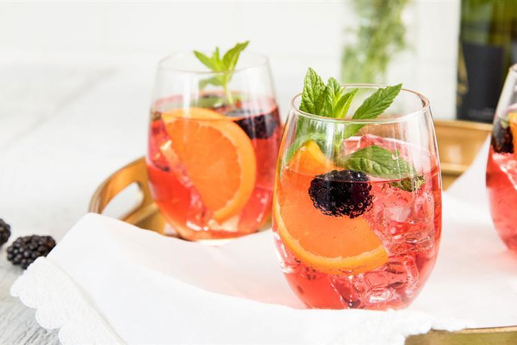 Cranberry Blackberry Sparkling Wine Spritzer