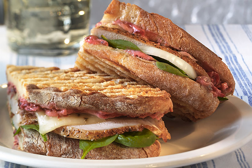 Family Style Turkey and Cranberry Panini