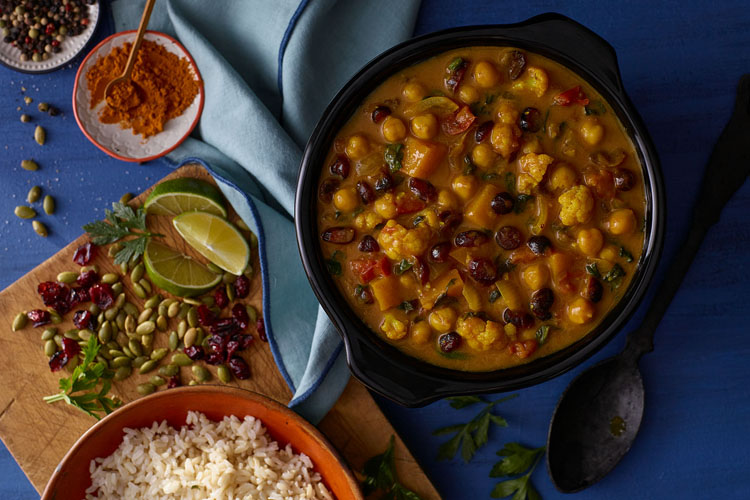 Crockpot Curry with Cranberry and Butternut Squash