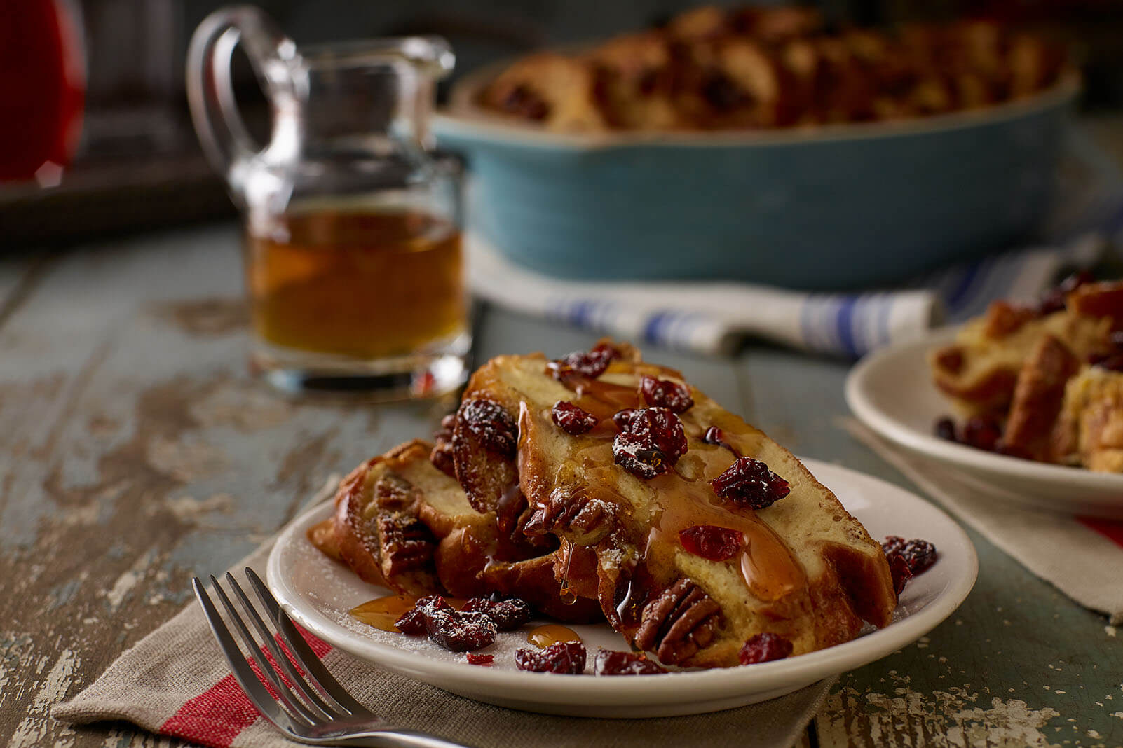 Overnight Cranberry Challah French Toast