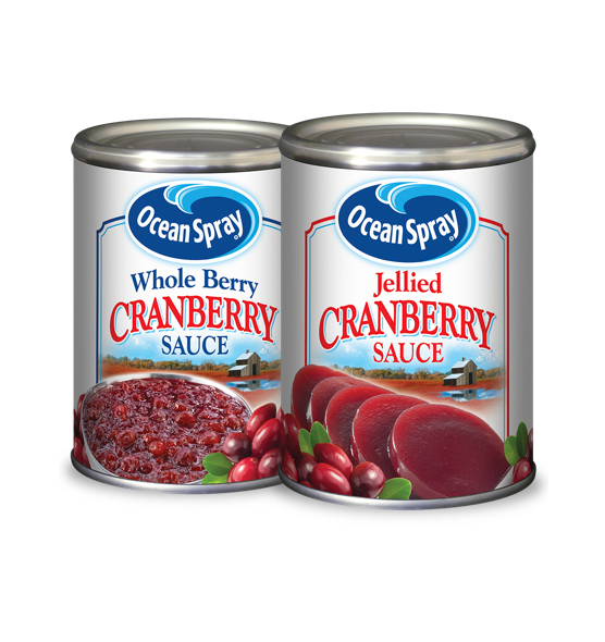 pack-shots of whole berry and jellied sauce