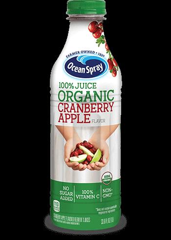 100% Juice Organic Cranberry Apple