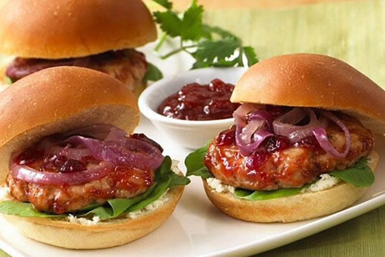 Year-Round Holiday Turkey Sliders with Zesty Cranberry Ketchup