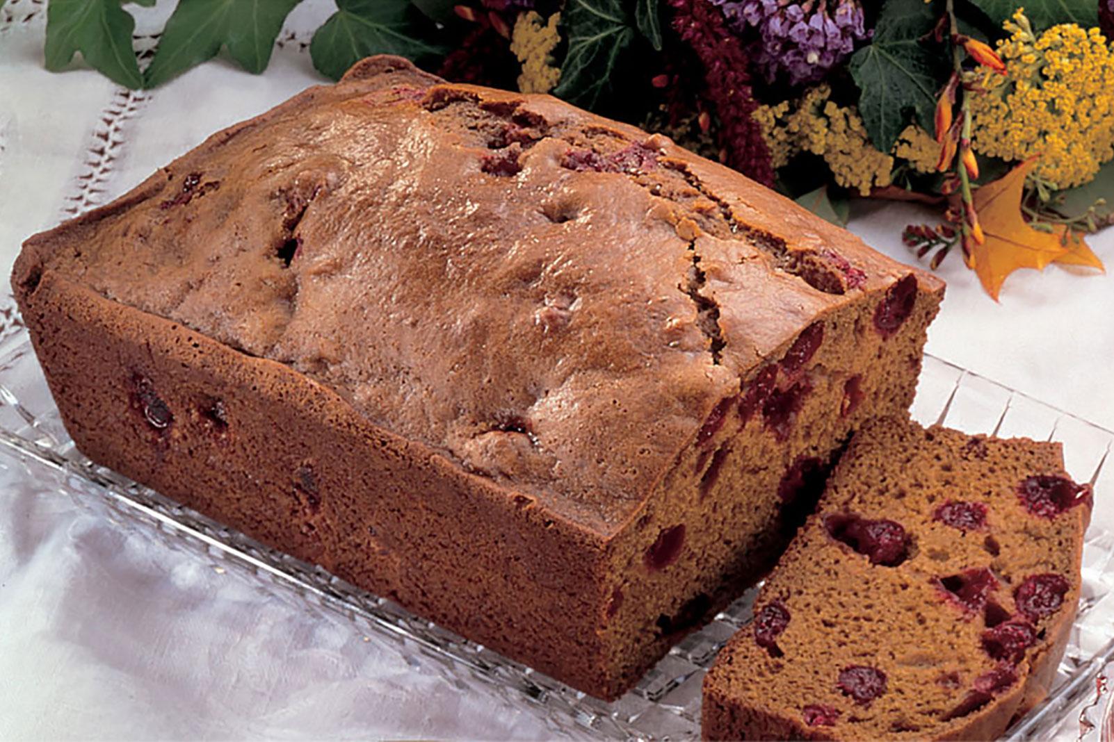 Cranberry Gingerbread Loaf