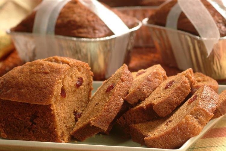 Mini Pumpkin Cranberry Breads