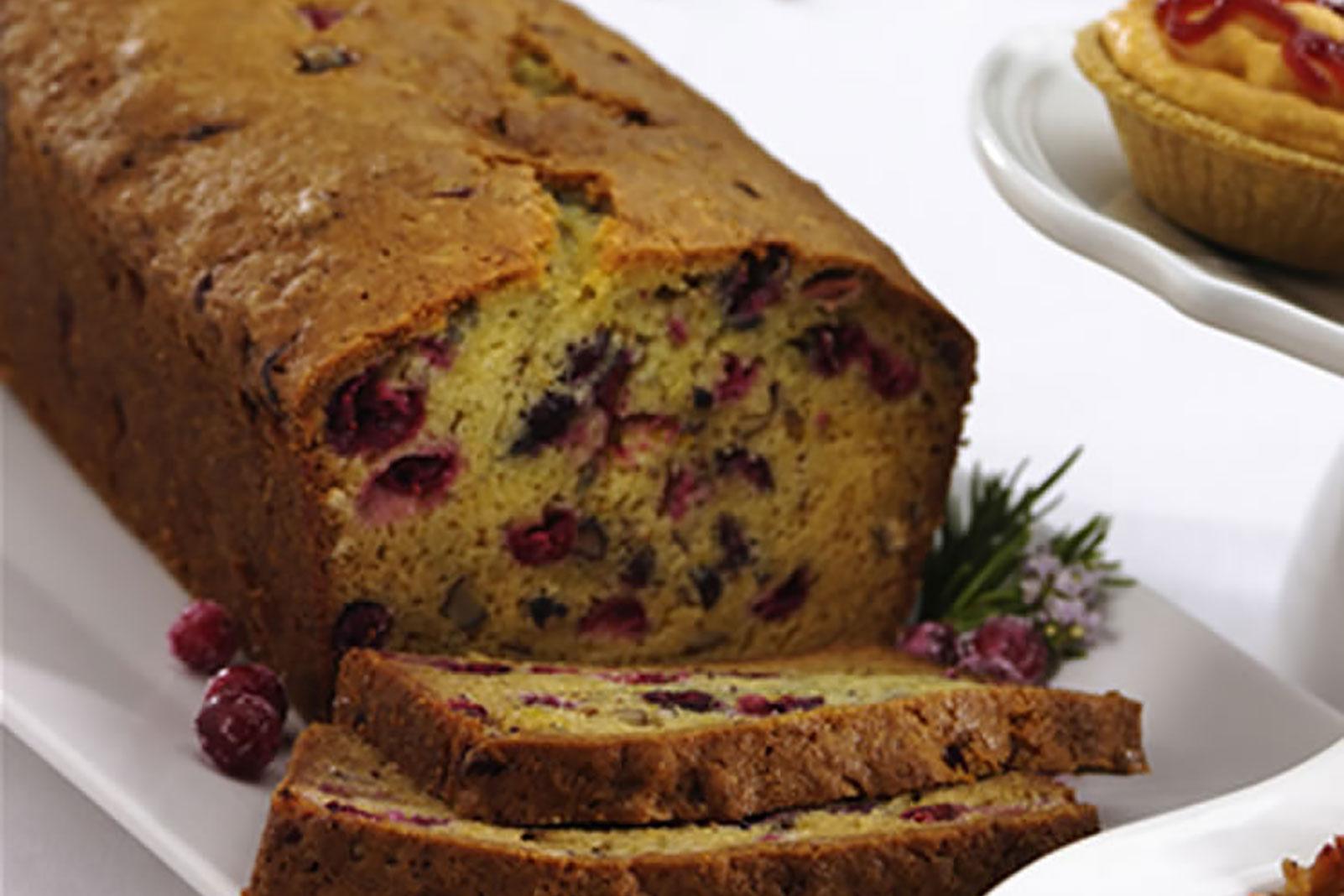 Rosemary Hazelnut Cranberry Bread