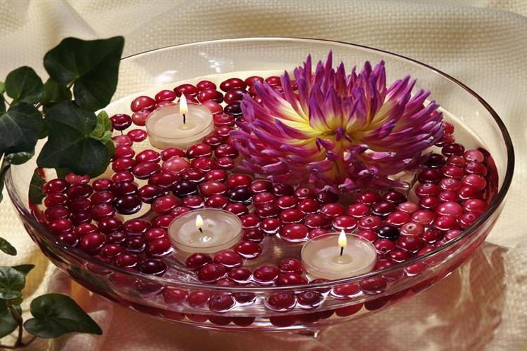 Cranberry Candle Float