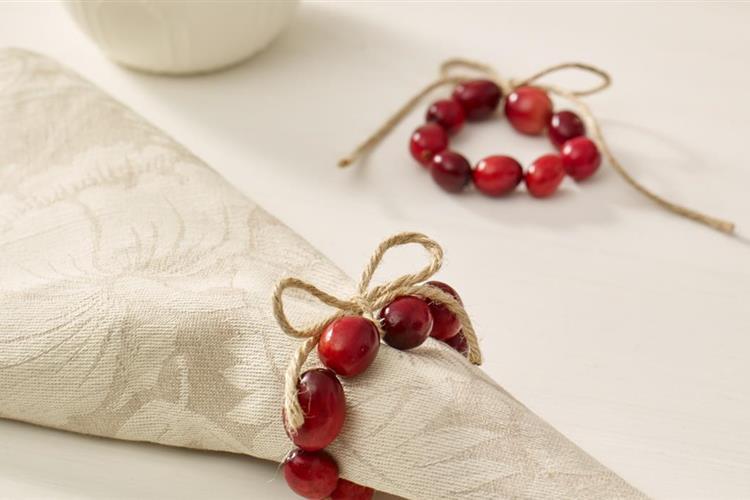 Cranberry Napkin Ring