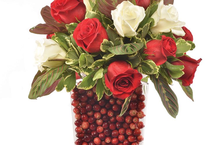 Fresh Cranberry Flower Arrangement