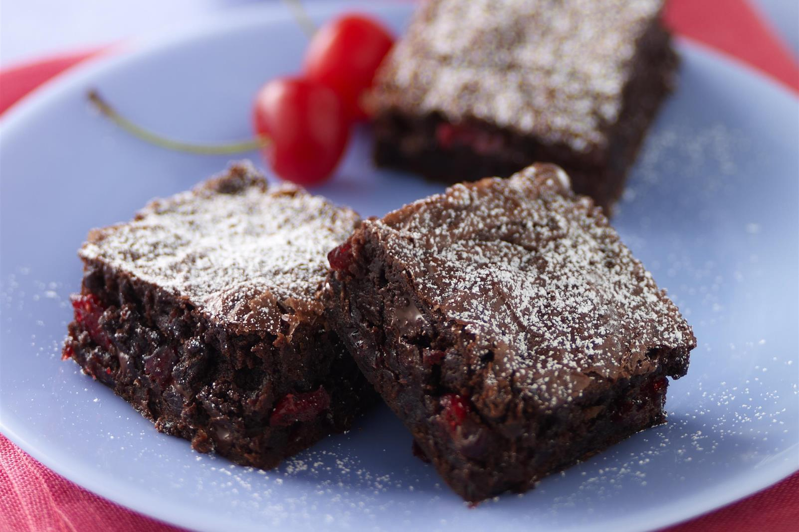 Chewy Cherry Brownies