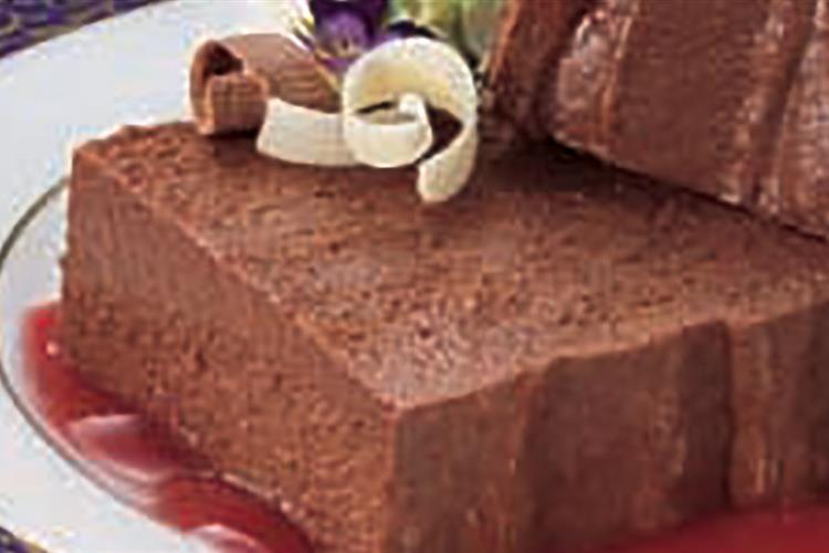 Chocolate Pate with Cranberry Coulis