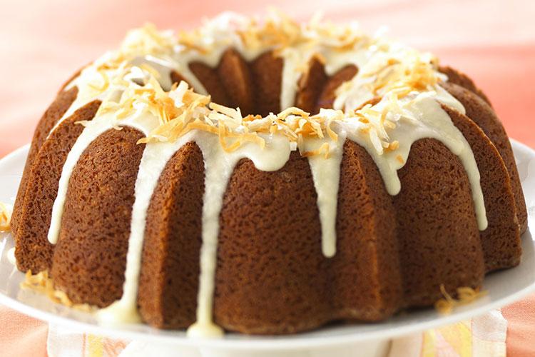 Coconut-Citrus Bundt Cake with Rum Glaze