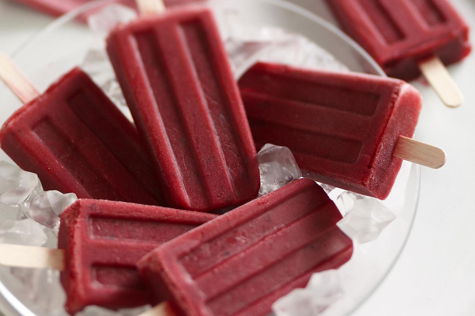 Cranberry Cherry Popsicles