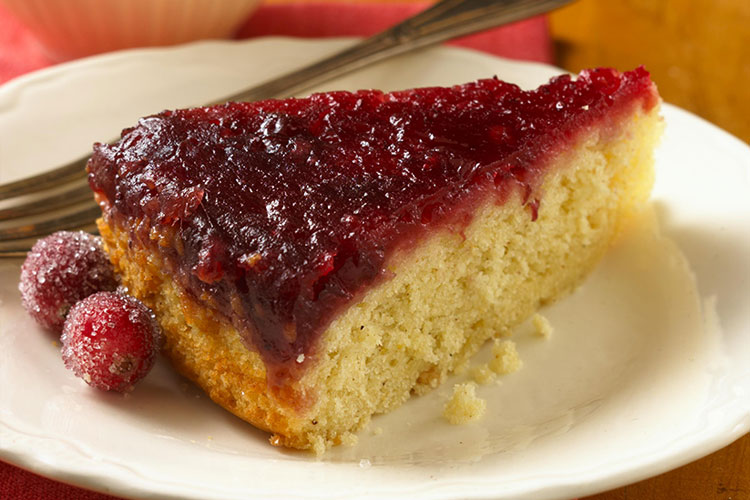 Cranberry-Ginger Upside Down Cake