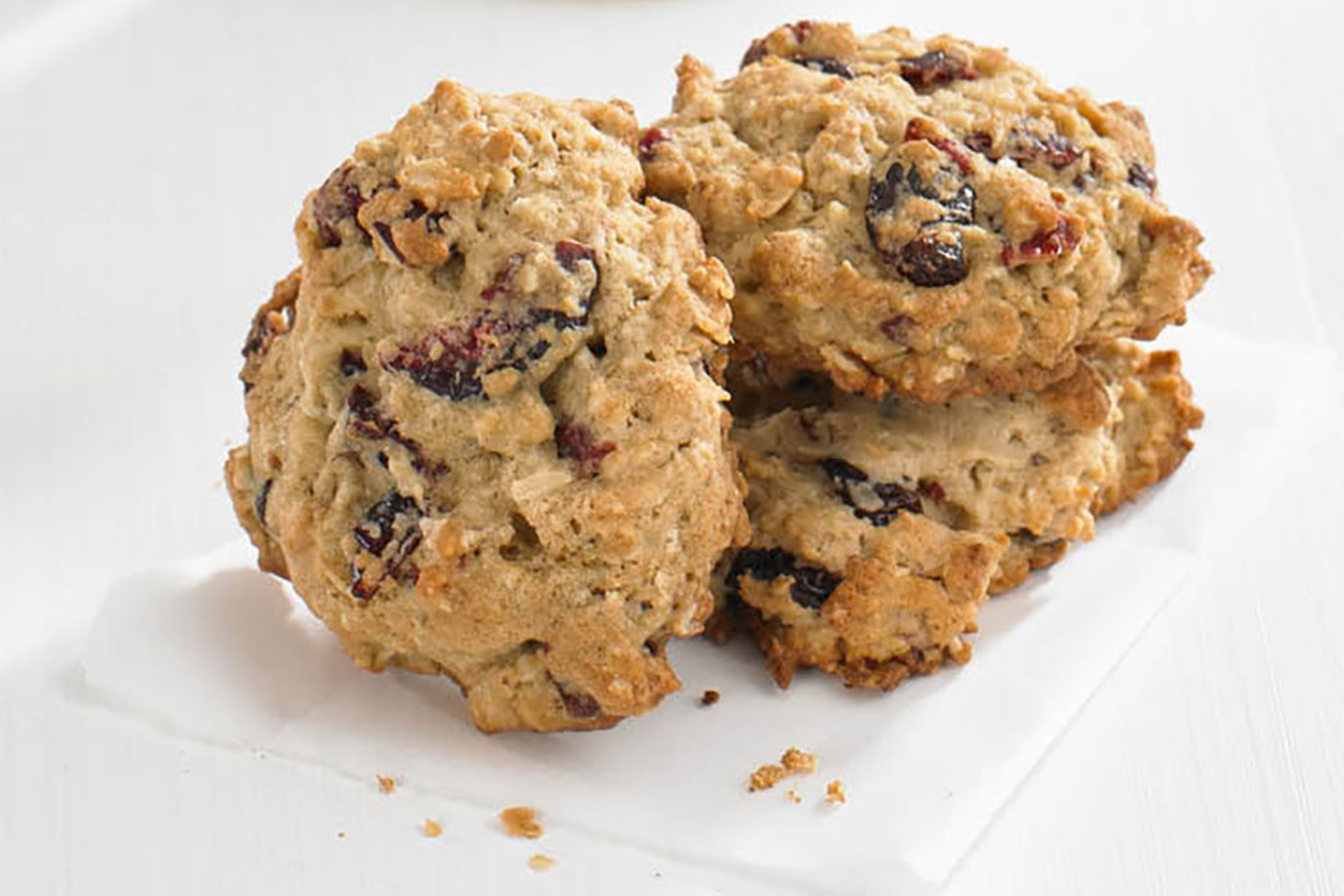 Cranberry Oatmeal Snack Cookies