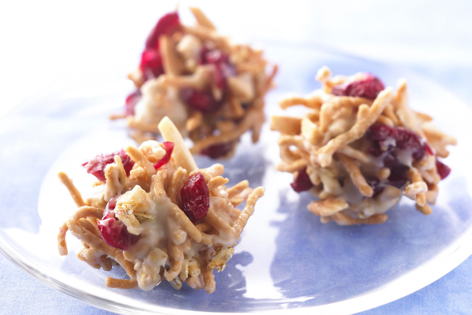 No-Bake Craisins® Dried Cranberries Crunch Clusters