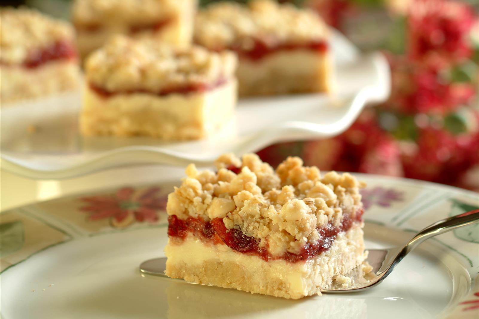 Premier Cheesecake Cranberry Bars