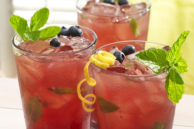 Cranberry & Blueberry Mint Lemonade