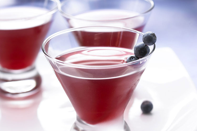 Cranberry-Blueberry Cosmopolitan