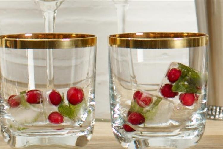 Cranberry Ice Cubes