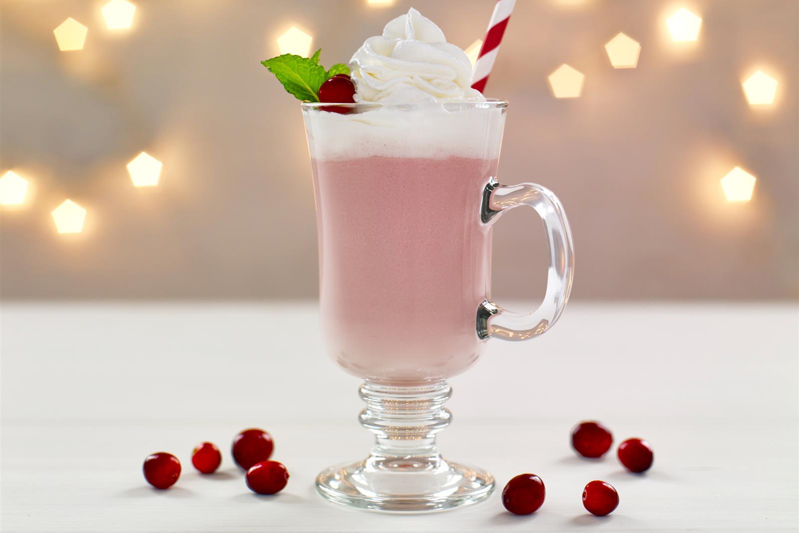 Cranberry White Hot Chocolate