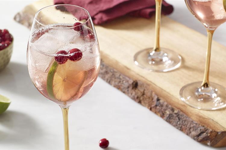 Festive Cranberry Wine Spritzer