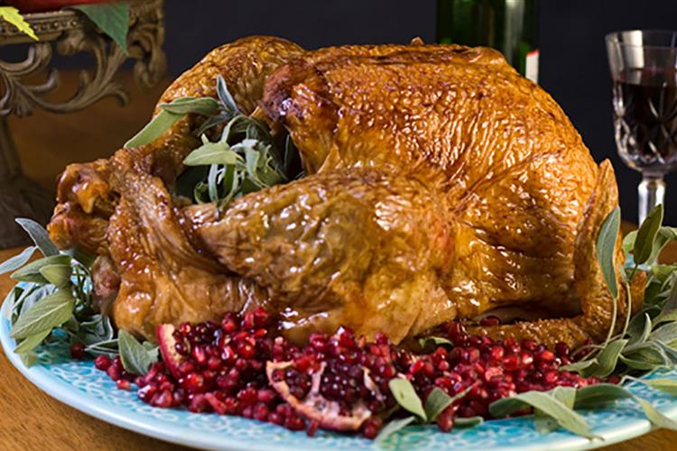 Black Pepper & Pomegranate Glazed Turkey