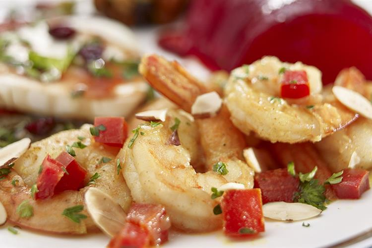 Cranberry Apple Scampi with Sweet Peppers