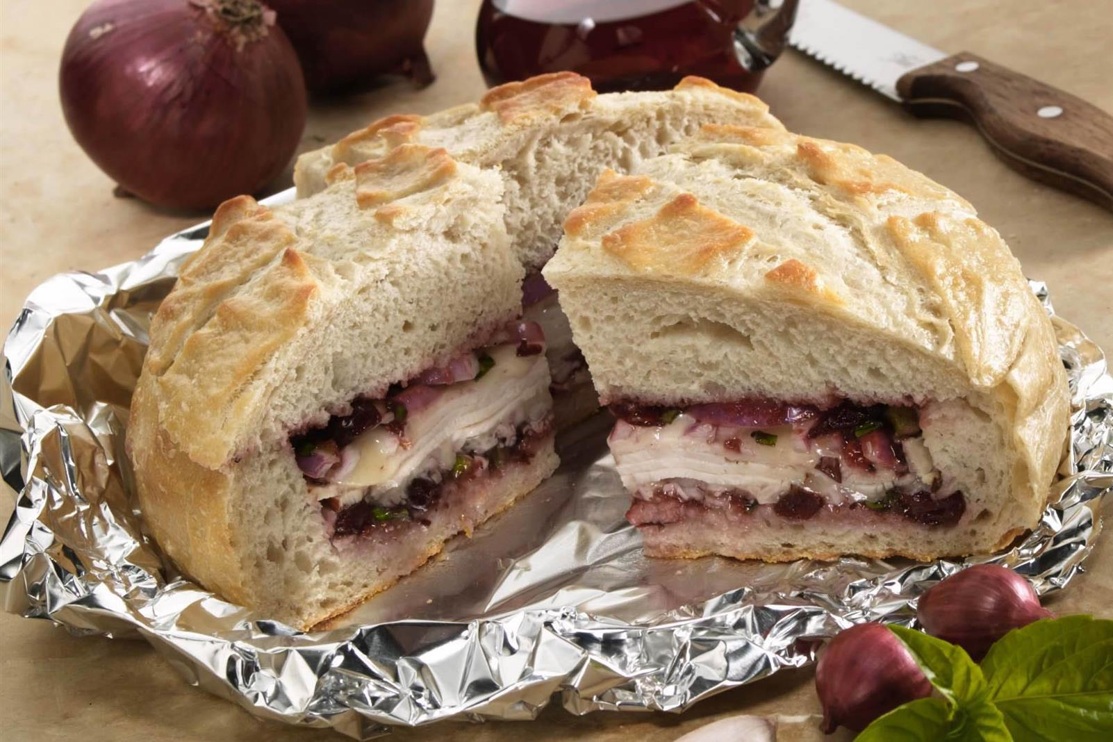 Cranberry Turkey Muffuletta