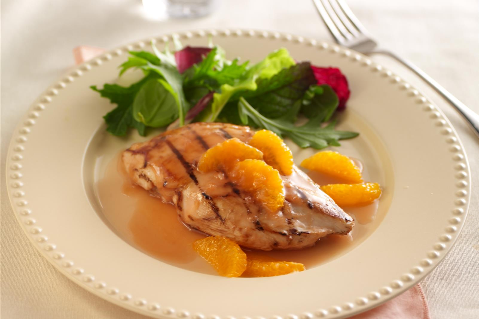 Grilled Chicken with Grapefruit Clementine Marinade