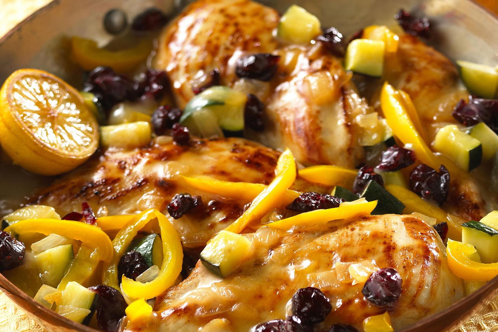 Lemon Blueberry Chicken Skillet