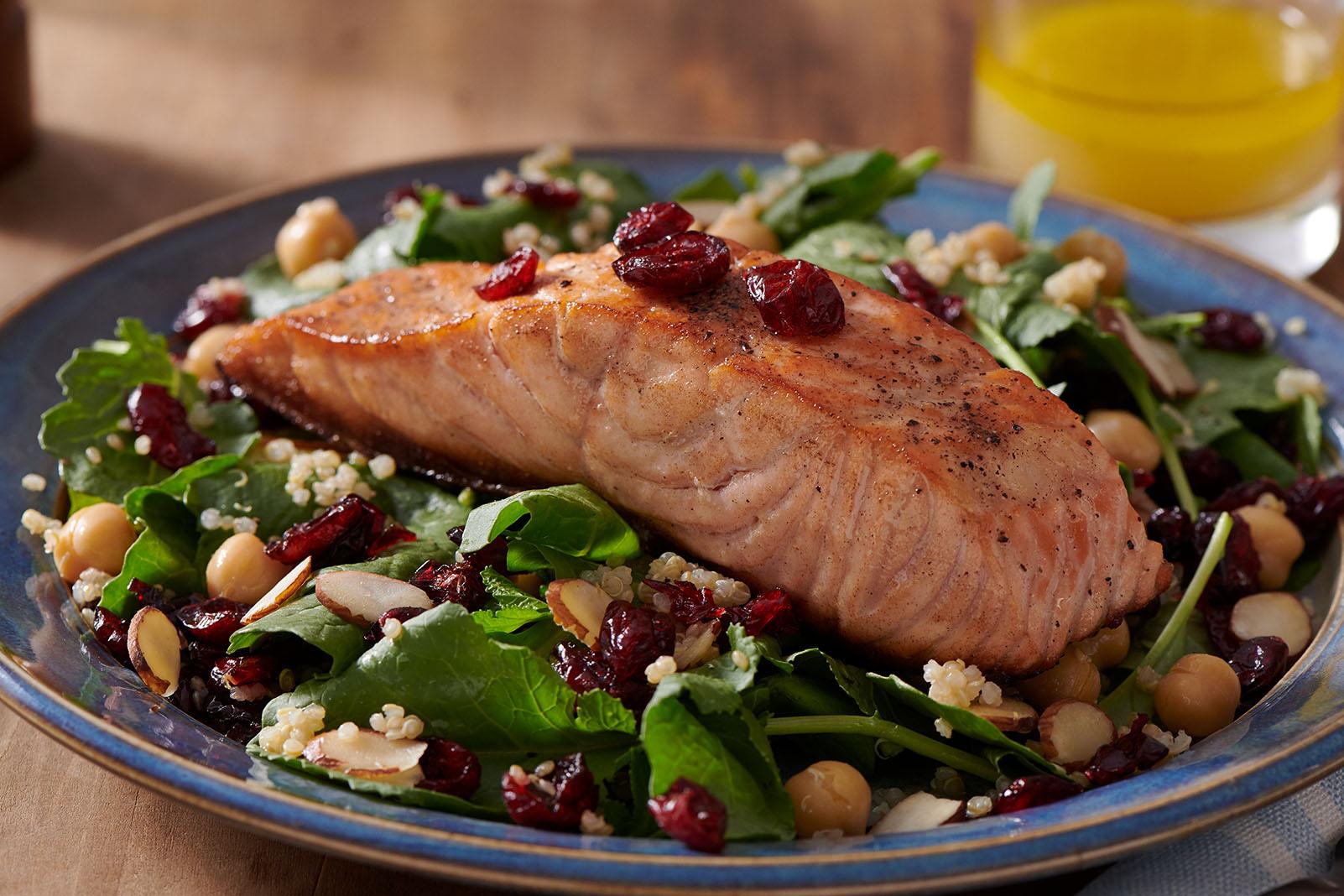 Greens, Grains, and Craisins® Dried Cranberries Bowl
