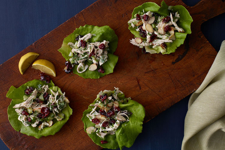 Healthy Greek Chicken Salad Lettuce Wraps