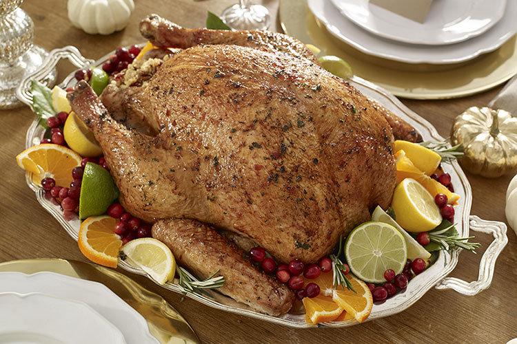 Roast Turkey with Cranberry Honey Glaze