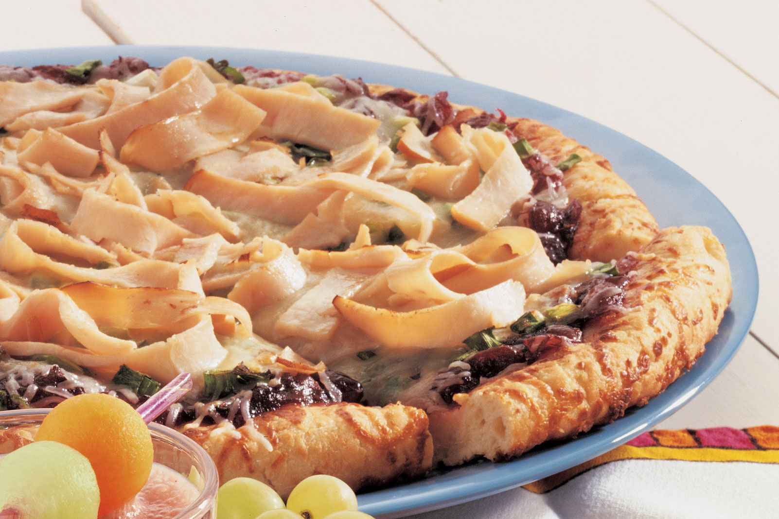 Smoked Turkey and Cranberry Gourmet Pizza