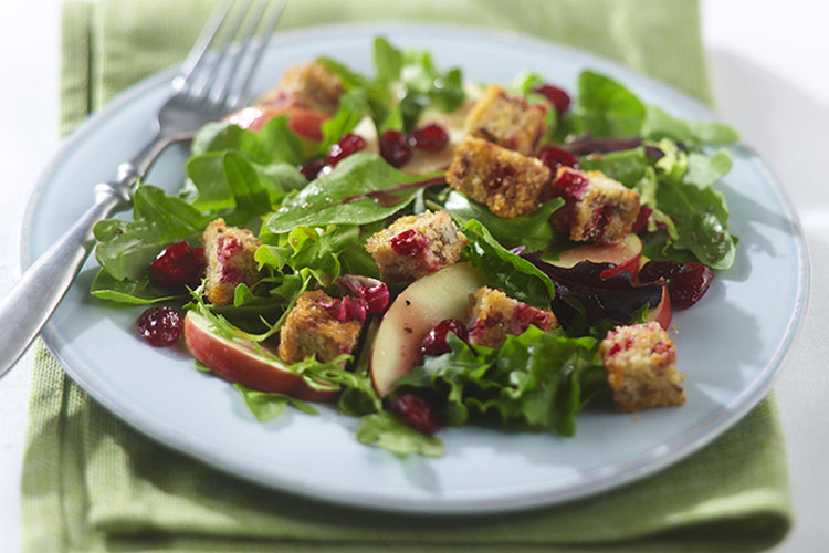Cranberry Bread Croutons