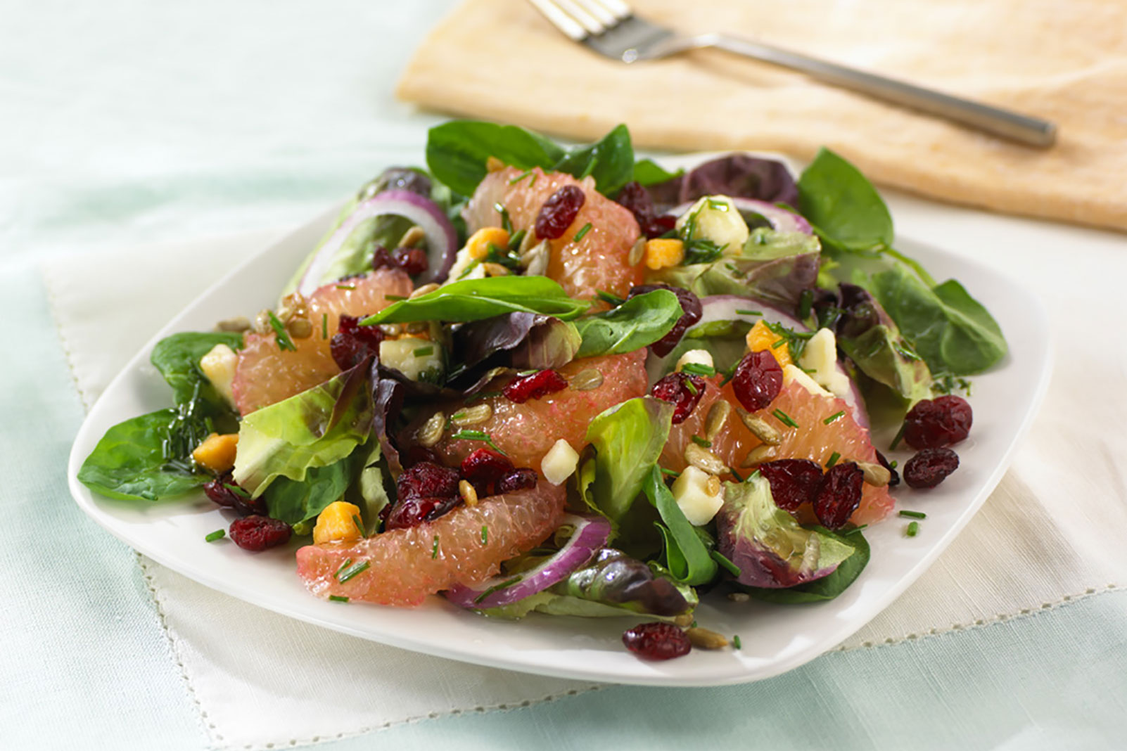 Cranberry Citrus Salad with Sunflower Seeds