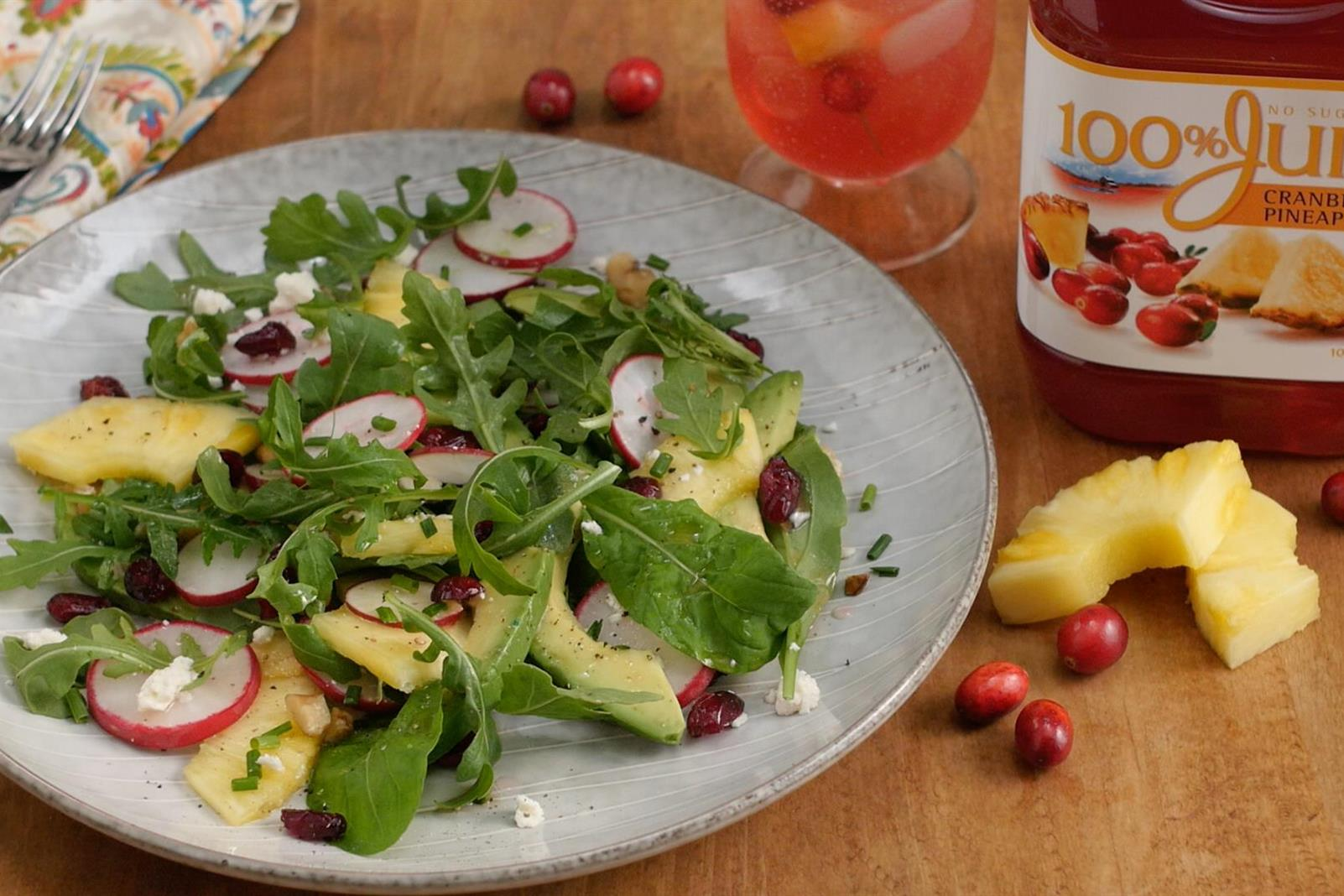 Cranberry Pineapple & Radish Salad