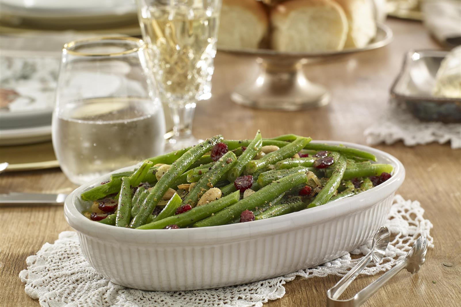 Green Beans with Toasted Almonds and Cranberries