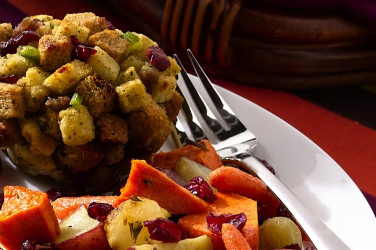 Individual Cranberry Stuffing Cups
