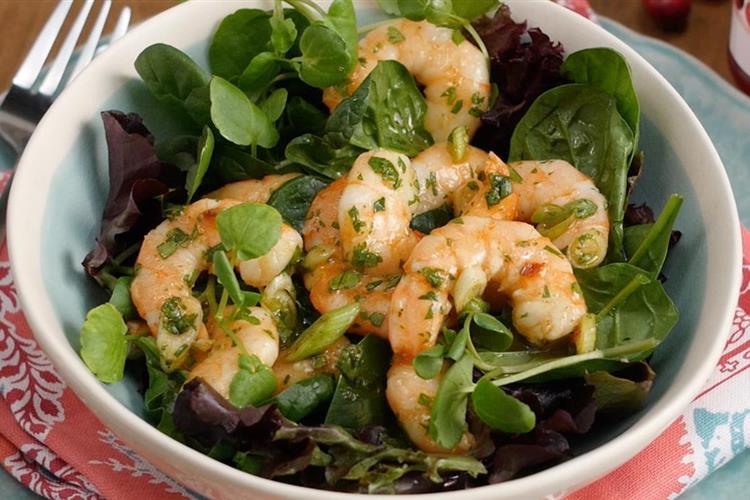 Shrimp Salad with Cranberry Pineapple Marinade
