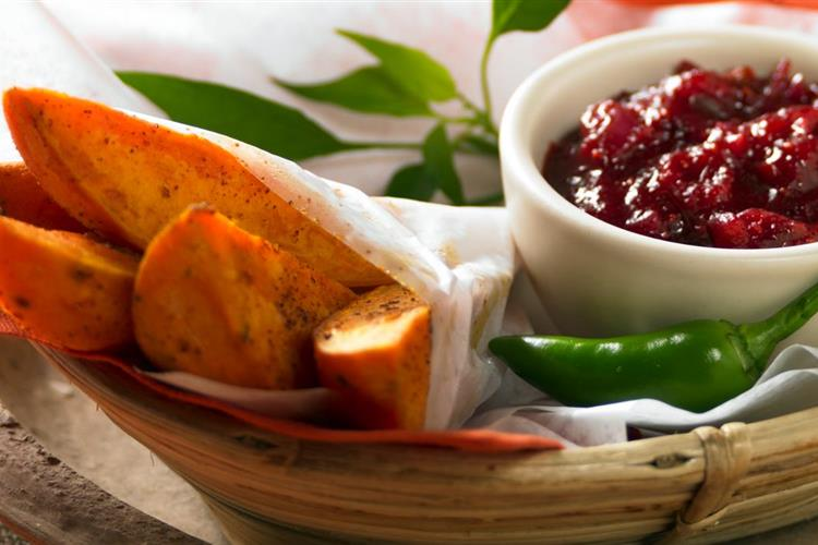 Wild West Wedges With Cranberry Catsup