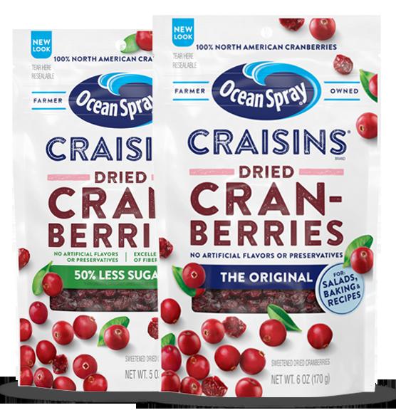 Craisins dried cranberries pack-shots