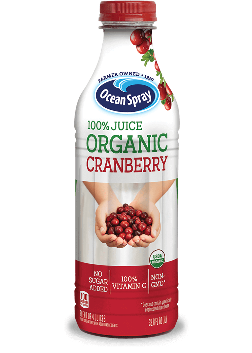 100% Juice Organic Cranberry